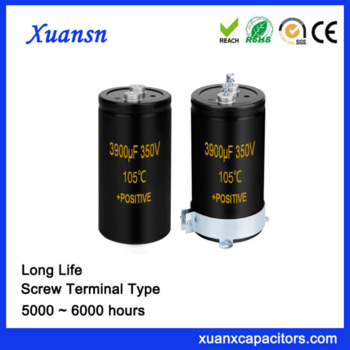 Capacitor Factory Screw Terminal Capacitor 3900UF 350V