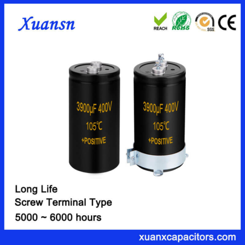 Long Life Screw Aluminum Electrolytic Capacitor 3900UF 400V