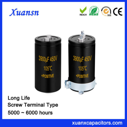 Capacitor Factory 3900UF 450V Screw Terminal Capacitor