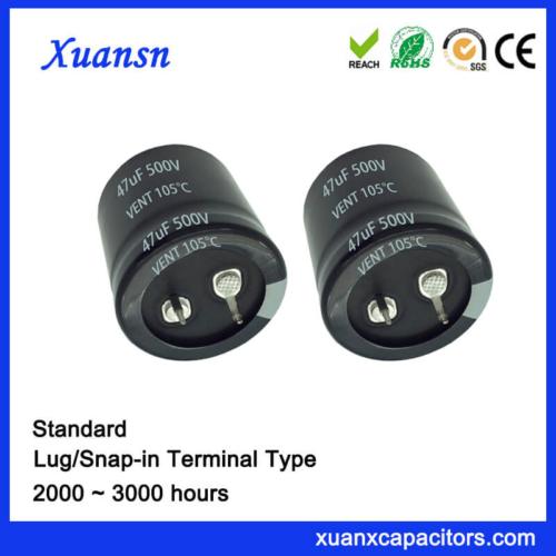 47UF 500V Electrolytic Capacitor Snap In 105c