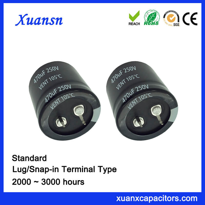 470uf 25v Socket Snap In Electrolytic Capacitor Xuansn