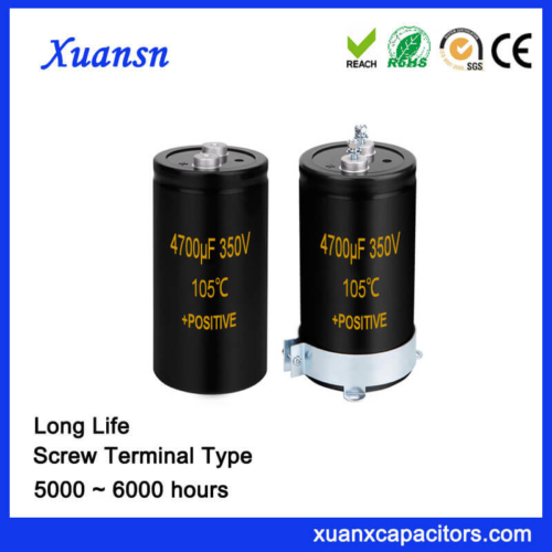 Hot Selling 4700UF 350V Screw Terminal Type Capacitor
