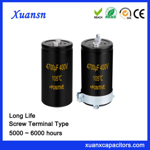 New Original Screw Aluminum Capacitor 4700UF 400V