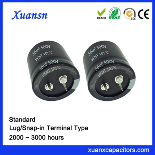 Customized 56UF 500V High Voltage Snap In Capacitor