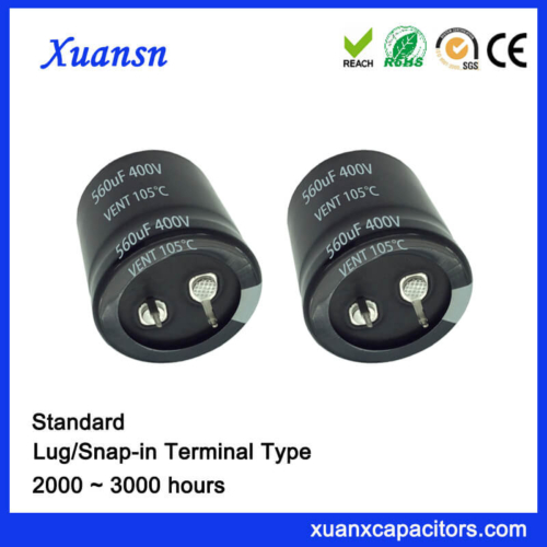 560UF 400V 105℃ Standard Snap In Capacitor