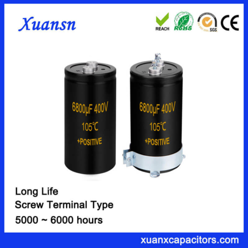 Long Life Electronic Capacitor Screw Terminal 6800UF 400V