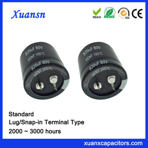 820UF 80V 105℃ 2000Hours Standard Snap In Capacitor