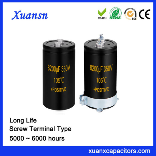 Frequency Converters Capacitor 8200UF 350V Screw Terminal