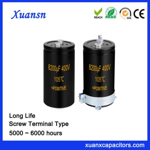 Screw Terminal Aluminum Electrolytic Capacitor 8200UF 400V