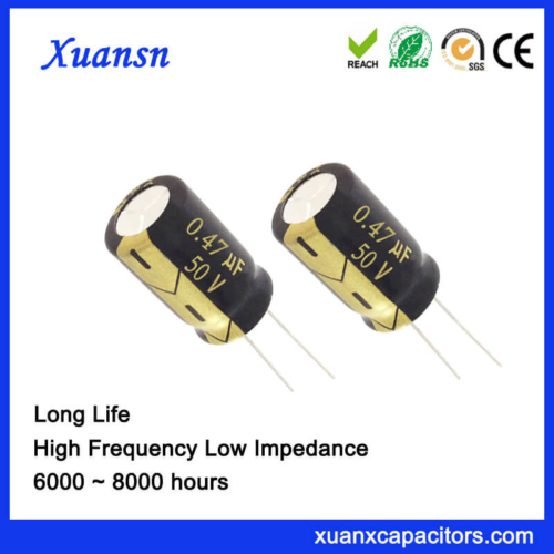 0.47UF 50V Aluminum Electrolytic Capacitor Factory For LED Lighting
