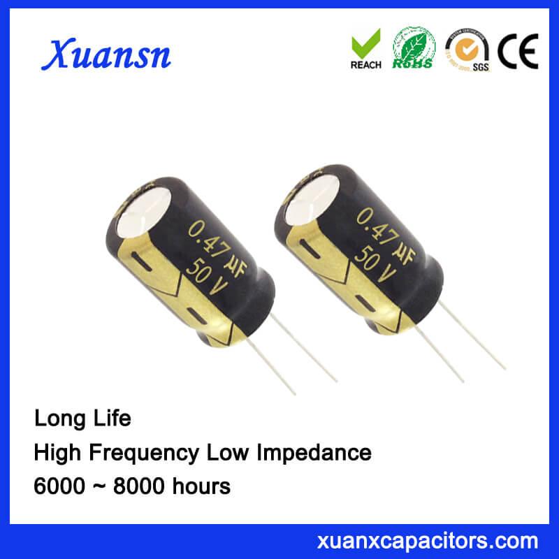 0.47UF 50V Aluminum Electrolytic Capacitor Factory For LED Lighting