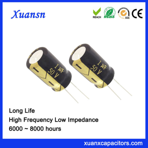 Xuansn Brand 1UF 50V Electrolytic Capacitor Long Life