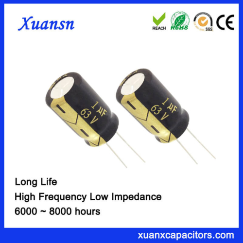 Xuansn Capacitor 1UF 63V Electrolytic Capacitor 6000Hours