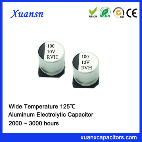 Hot Sale 125℃ 100UF 10V SMD Electrolytic Capacitor