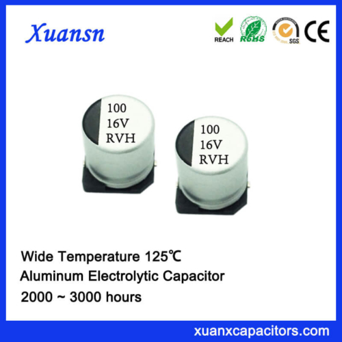 Cheap 125℃ 100UF 16V SMD Aluminum Electrolytic Capacitor