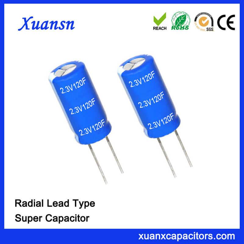 Capacitor Factory 2.3V Super Capacitor 120F Capacitor