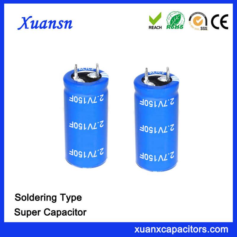 China Manufacturer 2.7V 150 Farad Super Capacitor