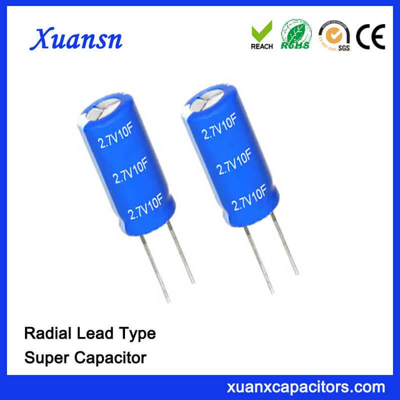 Electronic Component Farad Capacitor 10F 2.7V Super Capacitor