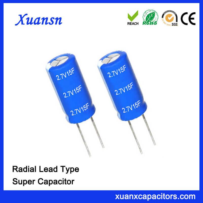 Custom 2.7v 15 Farad Super Capacitor For Sale