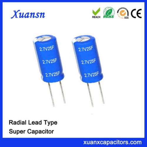 Hot Sale Super Capacitor 2.7V 25F Capacitor