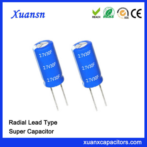 High Quality 2.7V 30 Farad Super Capacitor Electric
