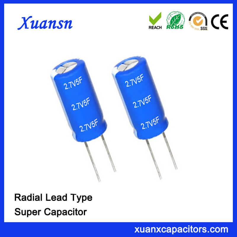 2.7V Super Capacitor Battery 5F Capacitor