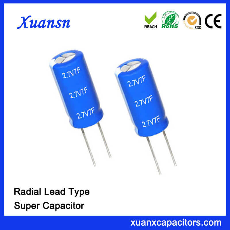 2.7V 7 Farad Super Capacitor China Supplier
