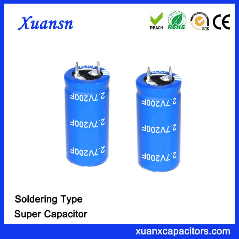 2 7V Super Capacitor Battery 200F Capacitor, farad super capacitor