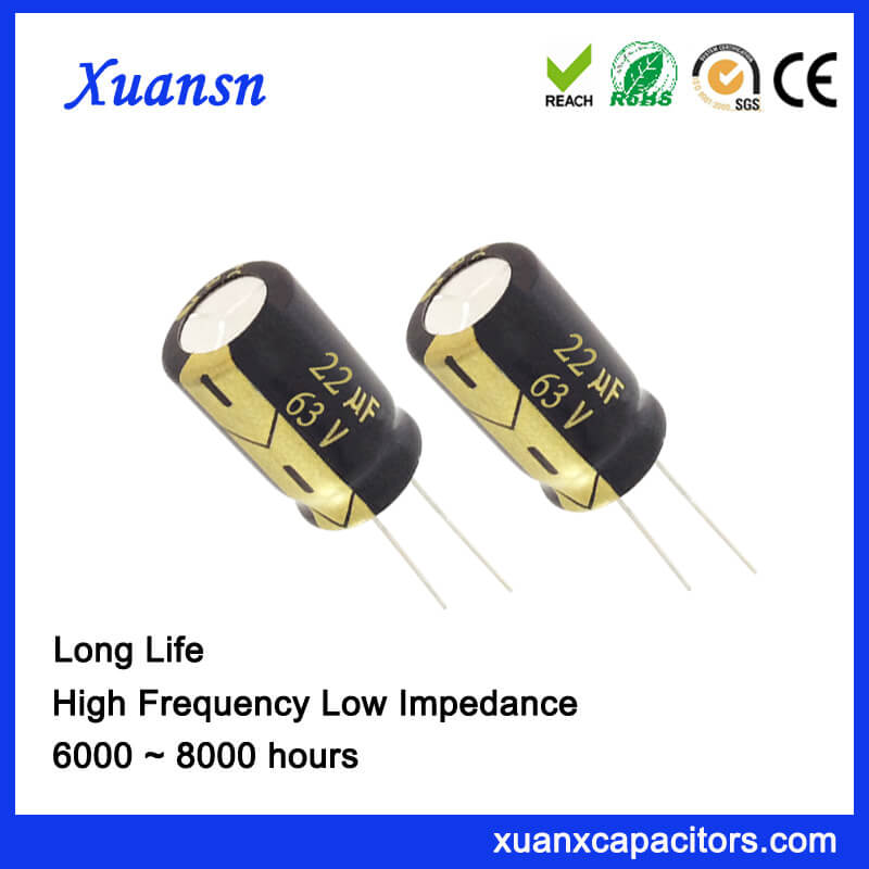 Electronic Component 22UF 63V Capacitor Electrolytic