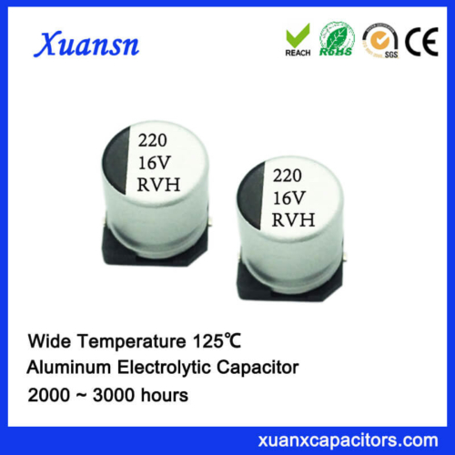 China 125℃ 220UF 16V SMD Aluminum Electrolytic Capacitor