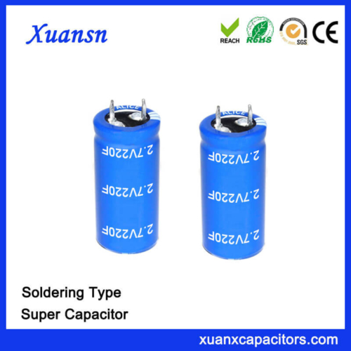 2.7V Super Capacitor Electric 220 Farad Capacitor