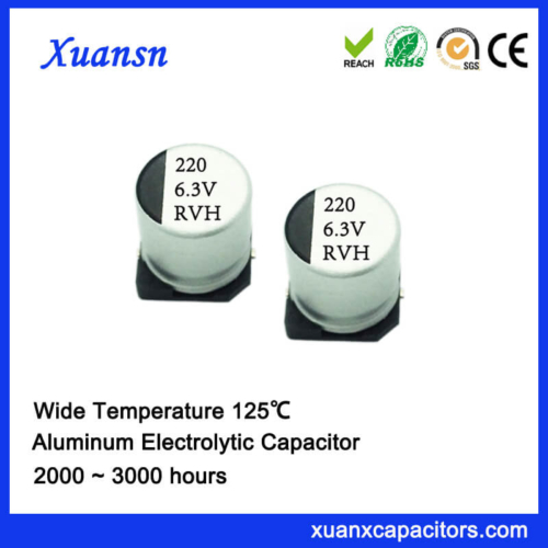 125℃ 2000Hours 220UF 6.3V SMD Electrolytic Capacitor