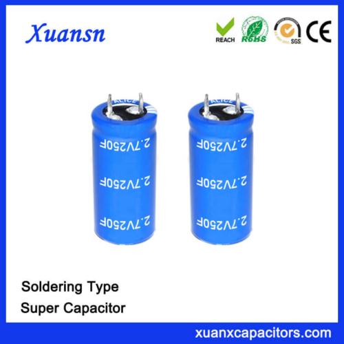 Soldering Type 2.7V 250 Farad Super Capacitor