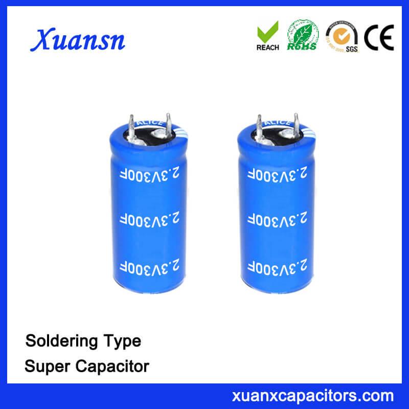 Electronics Component 2.3V 300F Capacitor Super
