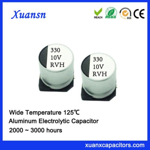 125℃ 2000Hours 330UF 10V SMD Aluminum Electrolytic Capacitor