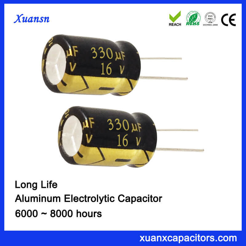 16V 330UF 8000hours Electrolytic Capacitor China Supplier