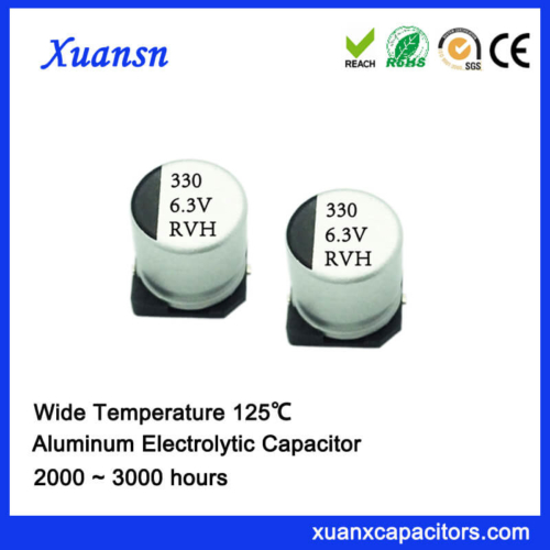 125℃ 330UF 6.3V Chip Aluminum Electrolytic Capacitor