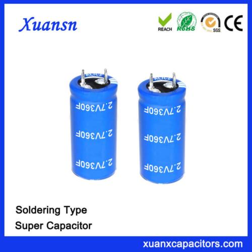 Soldering 2.7V 360 Farad Super Capacitor Battery
