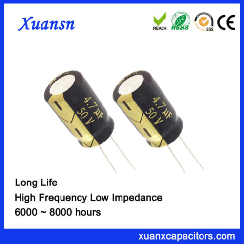 105c 6000Hours 4.7 UF 50V Capacitor Electrolytic Low Voltage