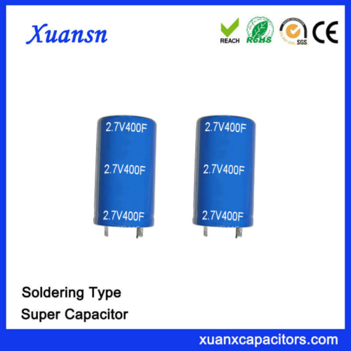 Customized Soldering 2.7V 400F Capacitor Super