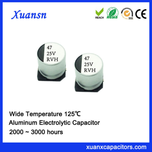 125℃ 47UF 25V SMD Aluminum Electrolytic Capacitor Supplier