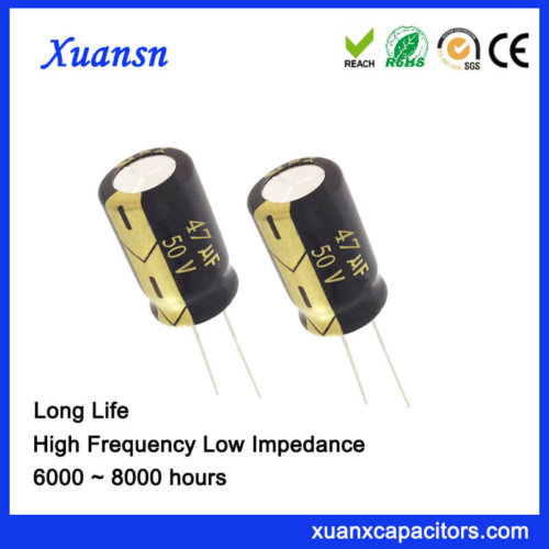 105c 8000Hours Long Life 47UF 50V Electrolytic Capacitor