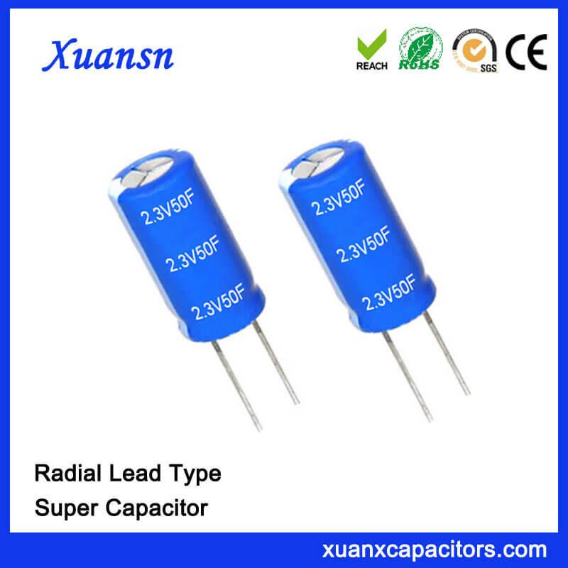 Electronic Component 2 3V 50 Farad super capacitor