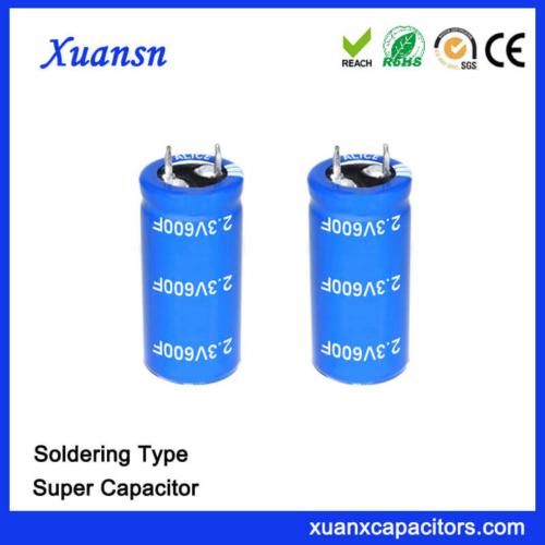 China Supplier Soldering 2.3V 600F Capacitor Super