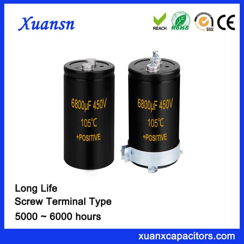 6800UF 450V Aluminum Capacitor Screw Terminal Type