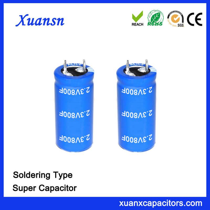Large Capacity Soldering 2.3V 800 Farad Super Capacitor