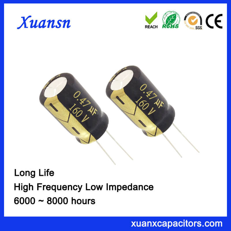 0.47UF 160V Aluminum Electrolytic Capacitor Long Life