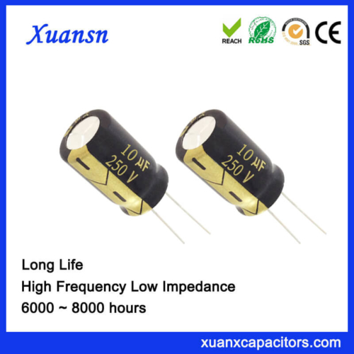 Through Hole 10UF 250V Capacitor Electrolytic Long Life