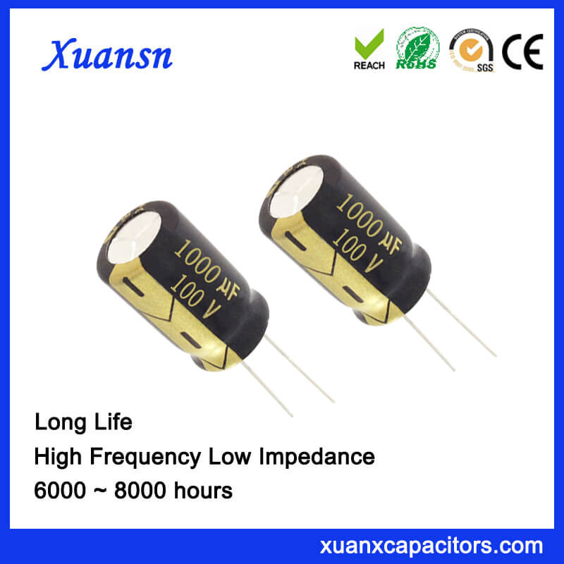 105C 8000Hours 1000UF 100V Capacitor Electrolytic