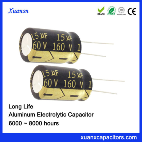 160V 15UF Radial Electrolytic Capacitor Long Life 8000Hours